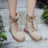 馬丁靴女英倫風短靴高筒軍靴工裝靴