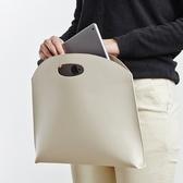 韓國新款女包手提包時尚簡約手拿包OL氣質通勤包文件包女式公文包 喵小姐