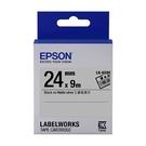 EPSON LK-6SBE C53S656409 資產管理系列銀底黑字標籤帶 寬度24mm