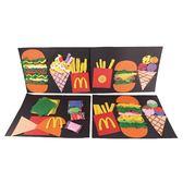 【BlueCat】兒童DIY手作漢堡薯條冰淇淋卡片 材料包
