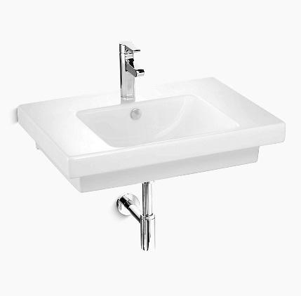 【麗室衛浴】美國 KOHLER Reach系列 一體式檯面盆 K-18572T-1-0 70x50x15cm