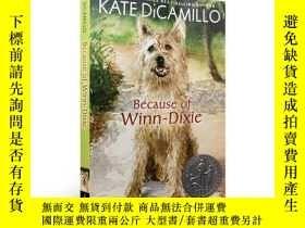 二手書博民逛書店都是戴茜惹的禍罕見Because of Winn-Dixie 英