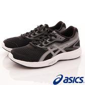 【ASICS】運動童鞋-流線透氣運動款黑灰-724N-9093(大童)