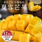 【果農直配-全省免運】夏雪芒果(10台斤±10%/約12顆)
