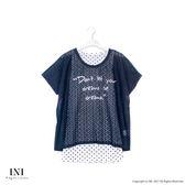 【INI】亮點蕾絲、假兩件式蕾絲點點設計上衣.黑色