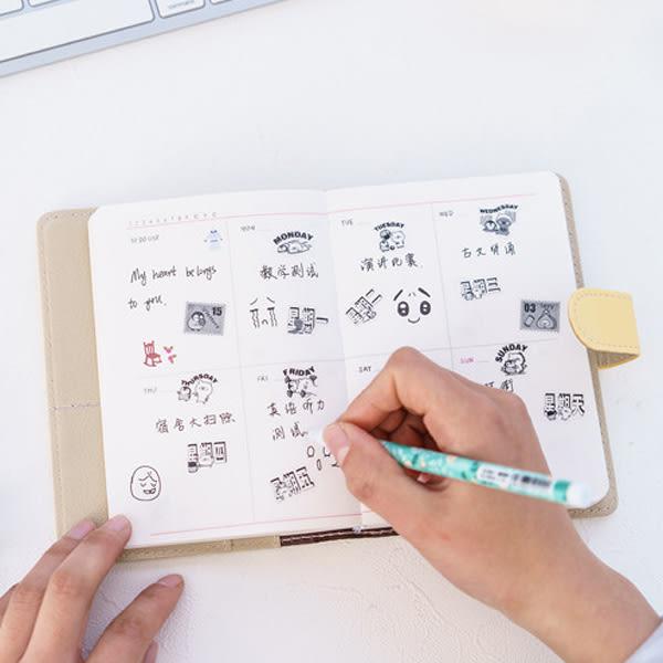 【BlueCat】黑白小企鵝星期與日期手帳貼紙 (6入裝)