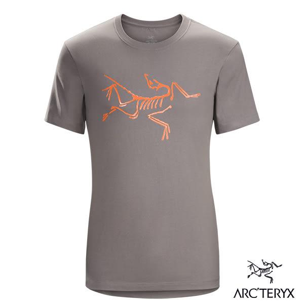 Arcteryx 始祖鳥 男 LOGO短袖T恤-灰/紅 【GO WILD】