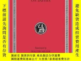二手書博民逛書店[罕見•英文拉丁文對照] 西塞羅《論義務》(洛布叢書)On Duties   De Officiis (Loeb
