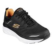 SKECHERS系列-D'LUX WALKER男款黑色健走鞋-NO.232044BKW