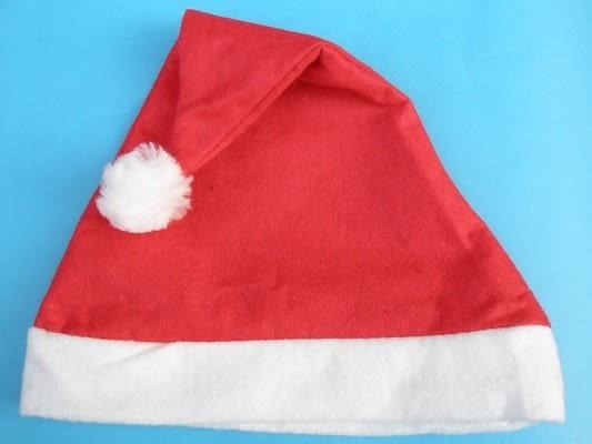 聖誕帽 一般標準型不織布聖誕帽 耶誕帽(成人用)/一大件600頂入{定20}~5417