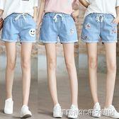 超短褲 11-12-13-14-15歲少女孩大童夏裝初中生牛仔短款小學生鬆緊腰熱褲 維科特3C