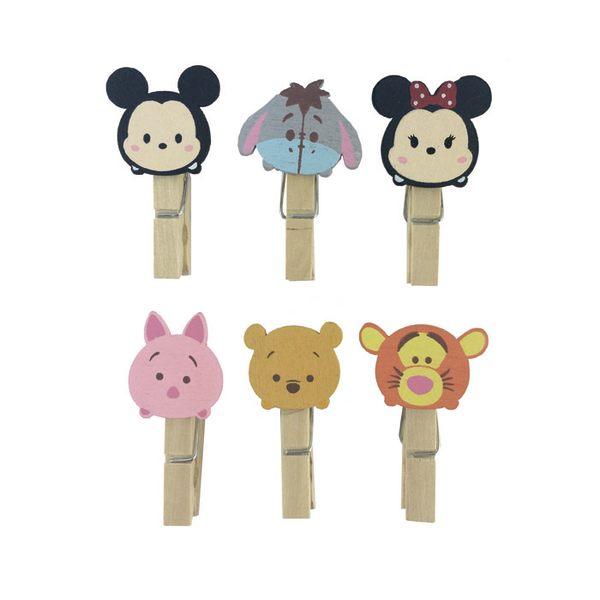 【收藏天地】迪士尼系列*木夾裝飾組-tsum/  文具 卡通 可愛 正版