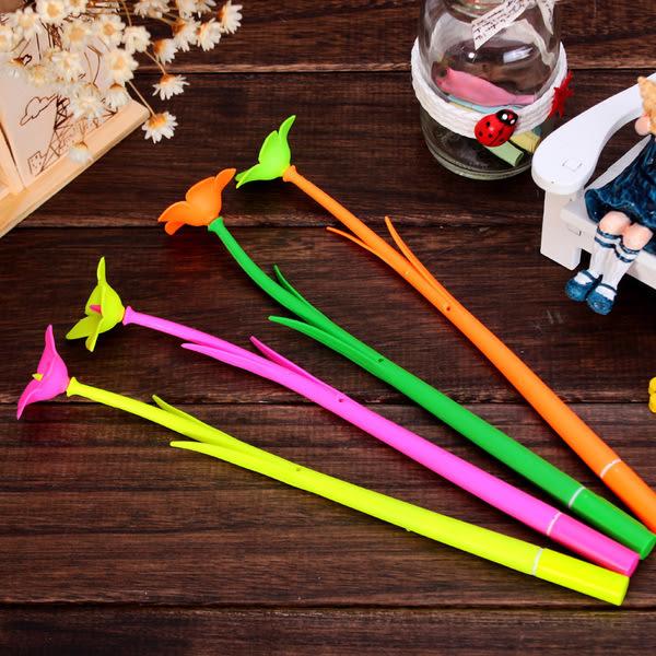 CH170─可愛時尚喇叭花造型中性卡通筆 花朵造型學生中性筆文具開學必備(隨機出貨)