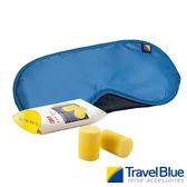 英國Travel Blue藍旅 ComfortSet眼罩+耳塞 藍色 TB451A 登山|露營|遮光|長途旅行|舒適透氣|飛行