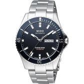 MIDO 美度 Ocean Star Caliber 80 200m潛水機械手錶-黑x銀 M0264301105100