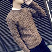 毛衣 針織衫毛衣男韓版針織衫學生圓領修身套頭打底衫個性男士線衣潮 快速出貨交換禮物八折