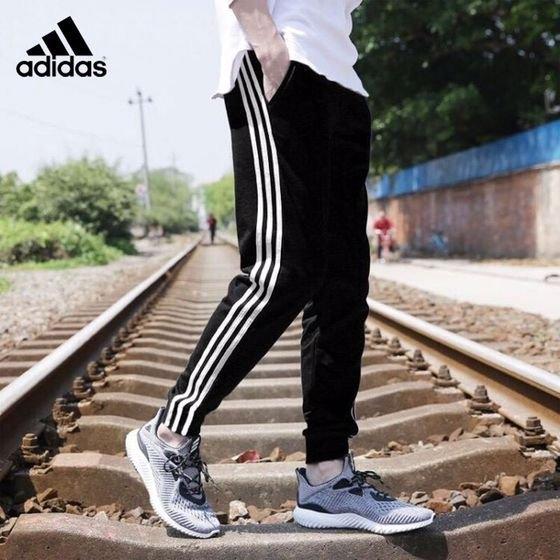 adidas 愛迪達 三葉草 運動褲 長褲 運動長褲 慢跑褲 束腳褲子 經典三條槓 男女 情侶款 棉質 休閒褲