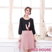 【RED HOUSE-蕾赫斯】珍珠鞋子針織衫(共二色)