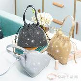 宴會包 水鉆手提包鑲鉆晚宴手包女手拿包手袋包零錢化妝包 QX7954 『愛尚生活館』