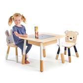 【美國Tender Leaf Toys】森林夥伴桌椅組(木製兒童家具)