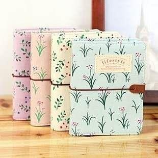 【發現。好貨】韓國文具 花樣年華三代 小清新田園碎花綁帶卡片包 20卡位卡包