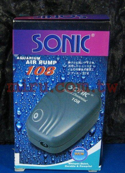 【西高地水族坊】雅柏UP代理 SONIC 108單孔空氣幫浦(可微調)