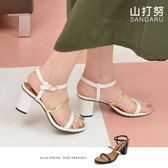 涼鞋 細帶金線踝釦高跟涼鞋-山打努SANDARU【03A3302#46】