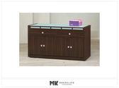 【MK億騰傢俱】ES713-04貝多美胡桃5尺碗櫥餐櫃下座