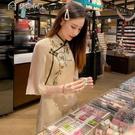 休閒洋裝旗袍改良21年新款長款氣質復古中國風年輕款少女國潮連身裙女夏15天內發 快速出貨