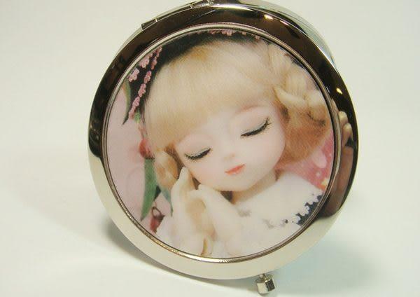 圓形雙面鏡3D立體娃娃圖案( 型三 )