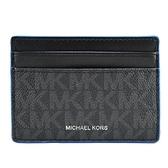 【南紡購物中心】MICHAEL KORS GIFTING滿版LOGO證件夾-藍