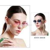 護目平光鏡心形太陽鏡女2020新款防紫外線時尚個性眼睛網紅墨鏡 酷斯特數位3c