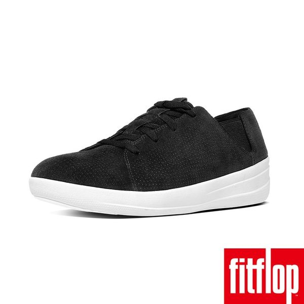 【FitFlop】F-SPORTY TM PERF SUEDE LACE-UP SNEAKER(黑色)
