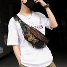 原創設計 刺繡圖案胸包 潮男女街頭皮質小胸包韓版胸前包腰包潮包 智慧 618狂歡
