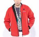 Stay Warm 行動電熱保暖男夾克外套特惠組(附電熱手套)紅色