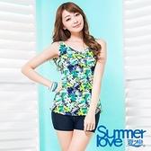 【南紡購物中心】夏之戀SUMMER LOVE】大女長版印花二件式泳衣S17723