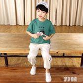 男童t恤2019新款夏裝男童短袖t恤兒童純棉體恤夏季韓版大童童裝xy1839『東京潮流』