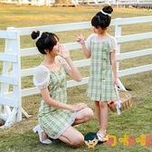 親子裝旗袍連身裙夏裝漢服森系母女裝夏季女童【淘嘟嘟】