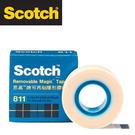 3M 811 3/4 Scotch® 可再貼隱形膠帶 (19mmx32.9m) / 個