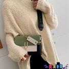 小方包 寬肩帶側背斜背包小包包女2021春季新款時尚百搭撞色洋氣小方包潮寶貝計畫 上新