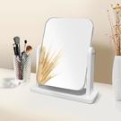 化妝鏡 網紅木質臺式化妝鏡宿舍女桌面便攜大號學生小鏡子折疊家用梳妝鏡 維多原創