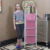折疊梯 多功能梯子家用折疊人字梯加厚三四步梯室內閣樓凳高 nm10801【甜心小妮童裝】