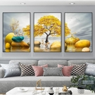 客廳裝飾畫抽象三聯畫沙發后面的掛畫背景墻...