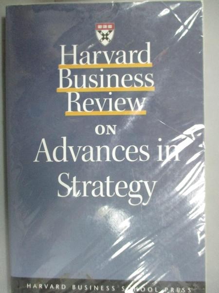 【書寶二手書T6/財經企管_NIB】Harvard Business Review on Advances in Str