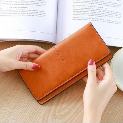 長夾 零錢包女士長款2021新款搭扣超薄款多功能韓版個性小清新百搭皮夾【快速出貨八折搶購】