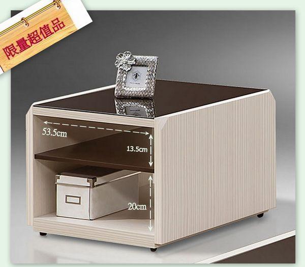 【南洋風休閒傢俱】茶几系列-  收納 玻璃桌 造型桌 藝奇黑玻小茶几(JH532-4)