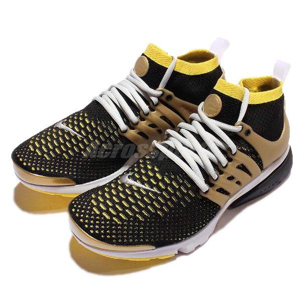 Nike 魚骨鞋 Air Presto Flyknit Ultra OG 黑 黃 金 襪套 男鞋【PUMP306】 835570-007