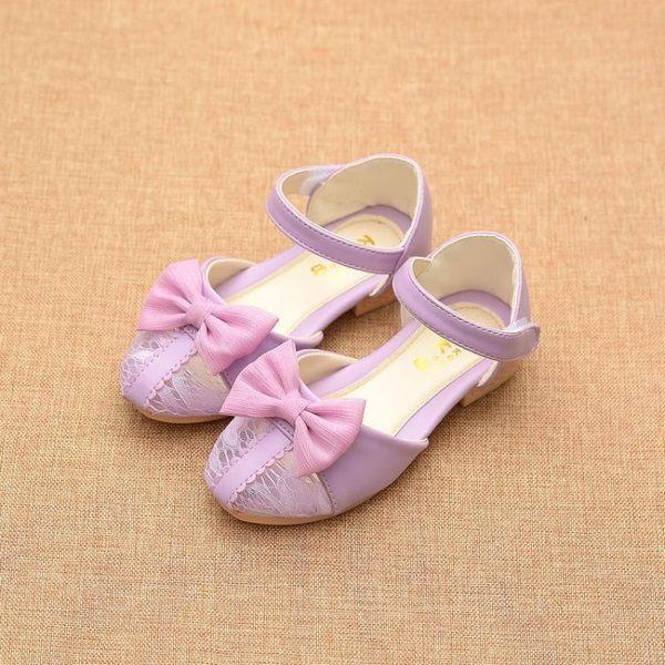 女童包頭皮涼鞋兒童時尚甜美公主鞋韓版潮新款寶寶沙灘鞋     韓小姐の衣櫥