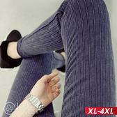 超激瘦彈力條紋高腰打底褲 XL-4XL O-ker歐珂兒 15819-1-C