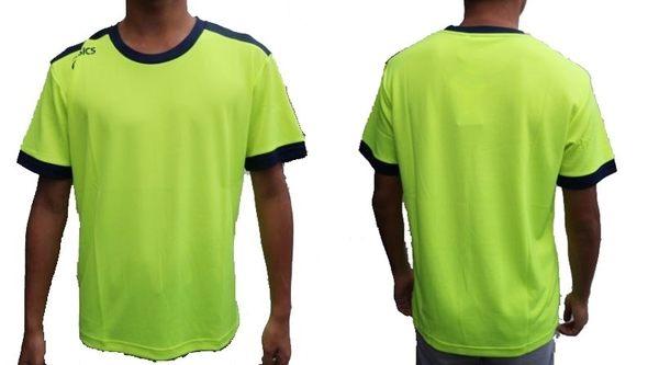 [陽光樂活] ASICS 亞瑟士 男款 短袖T恤 K11505-7350 螢光黃